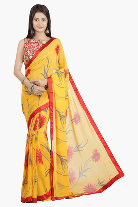 JASHN Womens Printed Saree - 201502542