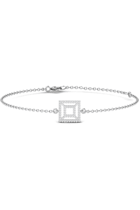 SPARKLES His & Her Collection Diamond Bracelets In 925 Sterling Silver And Real Diamond - 0.27 Cts