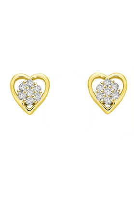 SPARKLESHis & Her Collection 92 Kt 925 Sterling Silver Diamond Earrings HHPXT8840-92KT