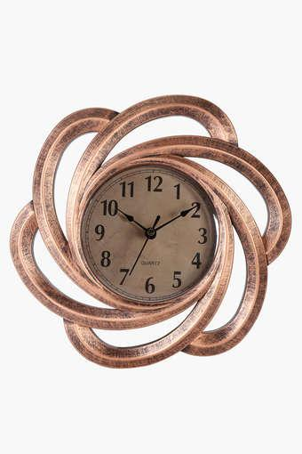 Buy Ivy Round Analogue Spiral Wall Clock With Arabic Markers Shoppers Stop