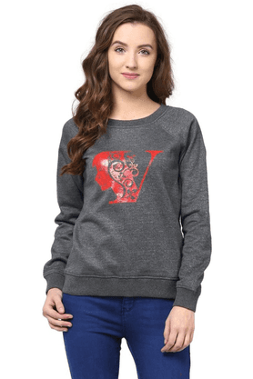 THE VANCA Women Printed Sweatshirt
