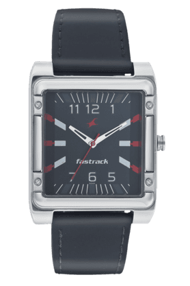 FASTRACK Mens Watch With Black Leather Strap - NE3040SL02
