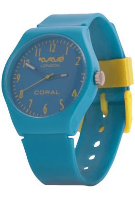 Coral Neon Blue Unisex Watch