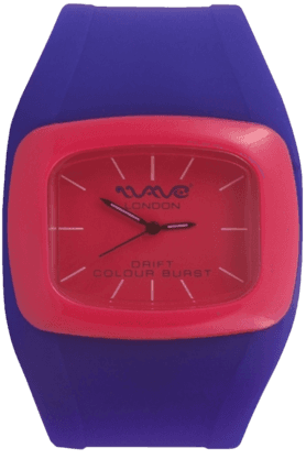 WAVE LONDON Drift Colour Burst Blue & Pink Unisex Watch