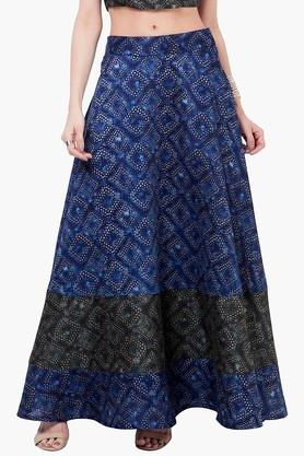 INDYA Womens Printed Maxi Skirt - 201845607