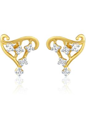 MAHIMahi Gold Plated Elegant Harp Earrings With CZ For Women ER1191401G