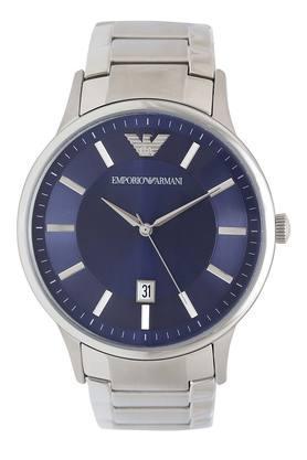 Mens Blue Dial Metallic Analogue Watch - AR11180I