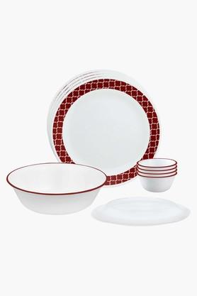 CORELLE Crimson Trellis 10 Pcs Dinner Set