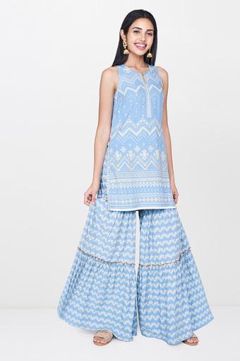 GLOBAL DESI -  Light BlueSalwar & Churidar Suits - Main