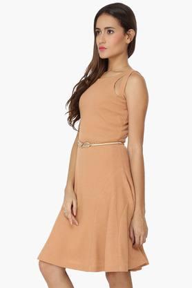 Womens Flared Evening Dress
