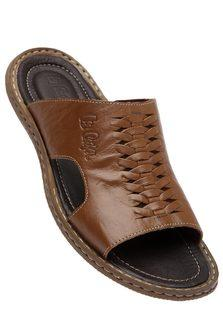 LEE COOPER Mens Leather Slipon Casual Sandal