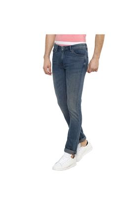 Mens Straight fit 5 Pocket Heavy Wash Jeans