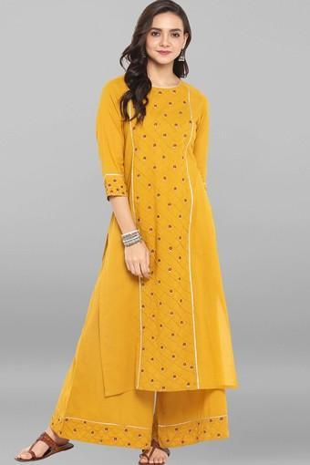 JANASYA -  YellowIndianwear Sets - Main