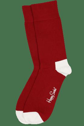 HAPPY SOCKSMens Cotton Stretch Solid Socks - 9261104