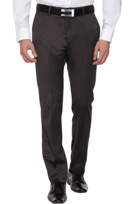 BLACKBERRYS Mens Slim Fit Solid Formal Trouser - 200889314