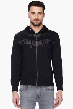 ED HARDY Mens Hooded Slim Fit Solid Sweatshirt