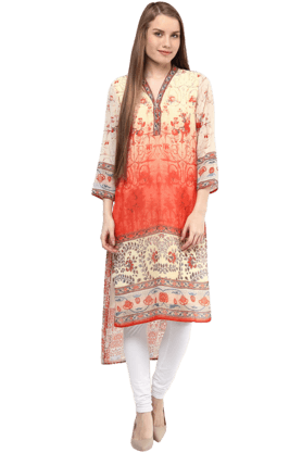 FUSION BEATS Womens Printed Kurta - 200991435