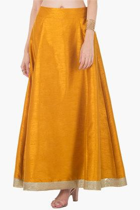 INDYA Womens Slub Long Skirt - 202498110_9418