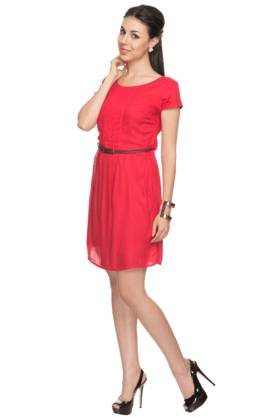 Womens Short-sleeved Dress