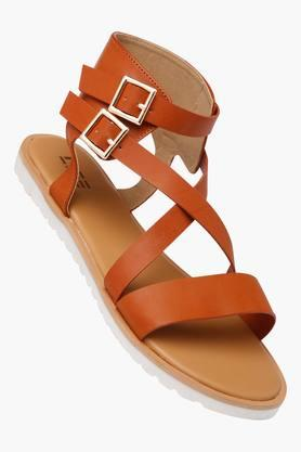 LIFE Womens Casual Wear Buckle Closure Flat Sandals - 202456937