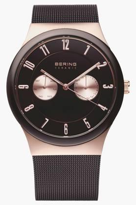 BERINGUnisex Ceramic Brown Round Analogue Watch 32139-265