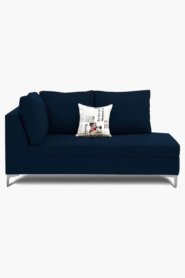 Light Blue Water Repellent Fabric Sofa (Lounger)