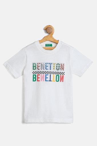UNITED COLORS OF BENETTON -  Off White T-Shirts - Main