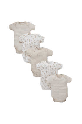 MOTHERCARE Unisex Safari Bodysuits - Pack Of 5