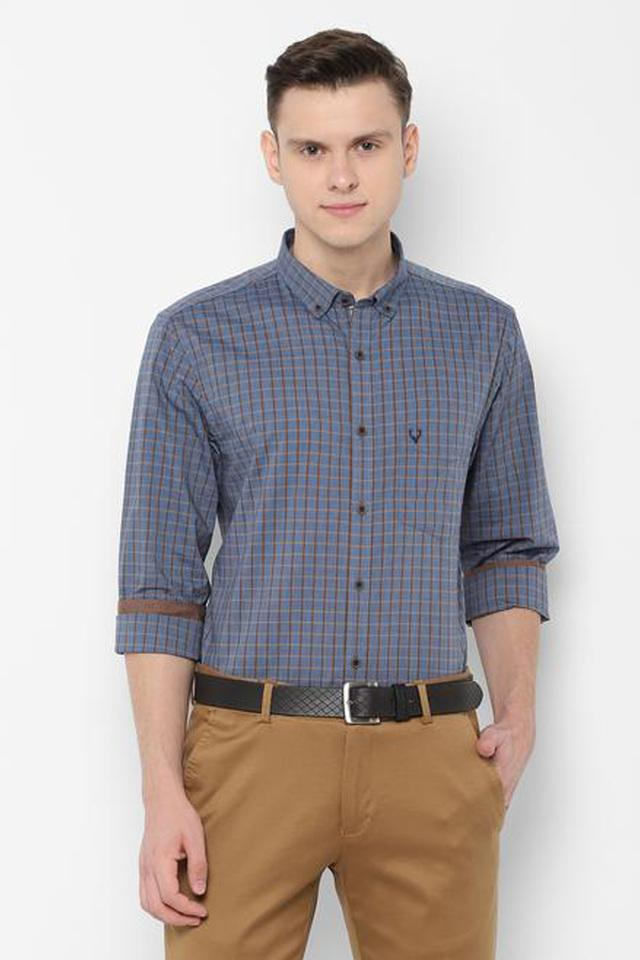 ALLEN SOLLY - Charcoal Casual Shirts - Main