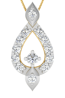 SPARKLESHis & Her Collection 18 Kt Pendant In Gold & Real Diamond HHP9770