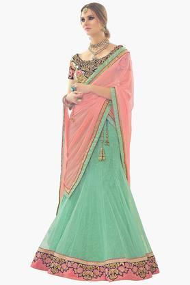 MAHOTSAVWomens Embellished Semi-stitched Lehenga Choli - 201643997