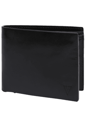 VAN HEUSEN Mens Dark Leather 1 Fold Wallet
