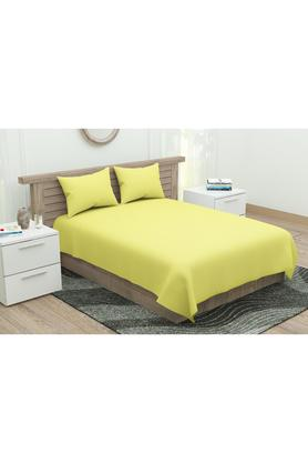 Solid King Bed Sheet with Pillow Cover
