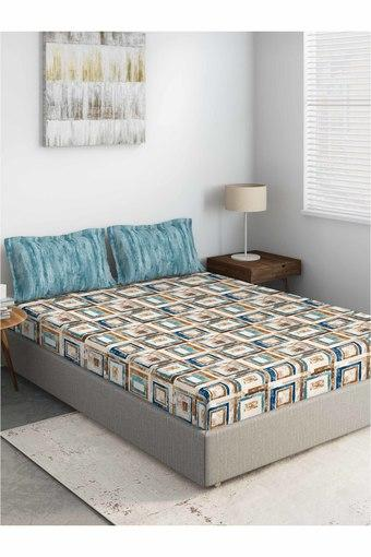 D'DECOR -  BlueDouble Bed Sheets - Main