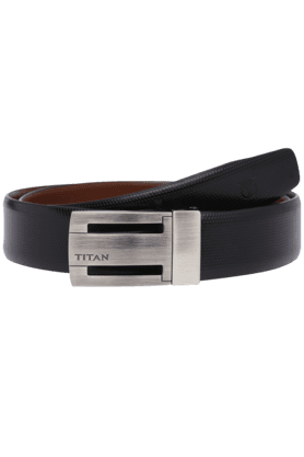TITAN Mens Leather Reversible Formal Belt
