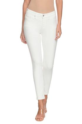 Womens Skinny Fit 5 Pocket Coated Jeans