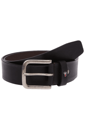 LOUIS PHILIPPE Mens Black Leather Formal Belt