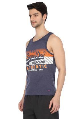 Mens Round Neck Printed Sports Vest