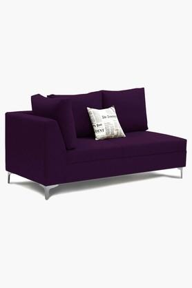 Dark Purple Water Repellent Fabric Sofa (Lounger)