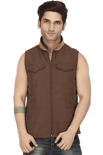 4489e3ec72e Buy ALLEN SOLLY Mens Sleeveless Slim Fit Solid Jacket | Shoppers Stop