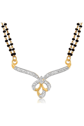 MAHIMahi Gold Plated Amour Mangalsutra Pendant With CZ For Women PS1191942G2