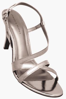 LEMON & PEPPERWomens Party Wear Ankle Buckle Closure Heel Sandal