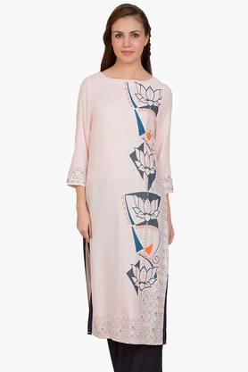 DESI BELLE Womens Printed Round Neck Kurta - 201828999