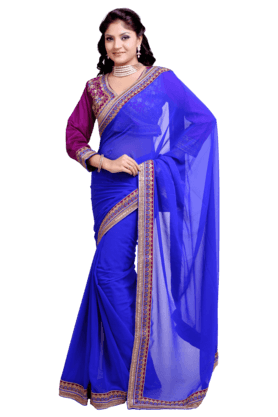 DEMARCA Women Satin And Jacquard Saree (Buy Any Demarca Product & Get A Pair Of Matching Earrings Free)