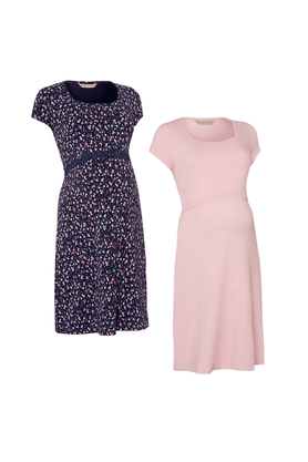 MOTHERCAREMaternity Cotton Printed Dresses - Pack Of 2