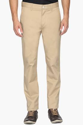 U.S. POLO ASSN. Mens Slim Fit 4 Pocket Solid Chinos