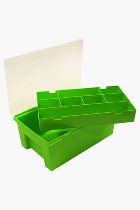 WHATMORE Storage Box With Lid And Removable Racks