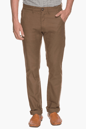 WROGN Mens Slim Fit Solid Chinos - 200665822
