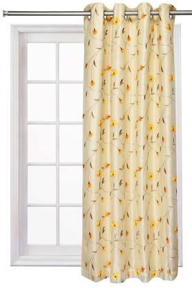 Embroidered Sheer 2 in1 Flower Window Curtain