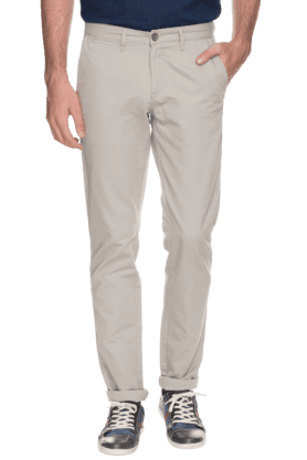ALLEN SOLLY Mens Slim Fit Solid Chinos - 200594057